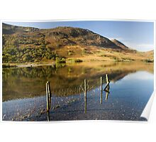 Reflections in Crummock Water Poster