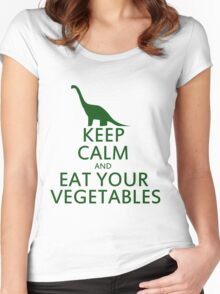 Keep calm and eat your vegetables Women's Fitted Scoop T-Shirt