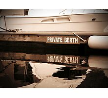 Private Berth Photographic Print