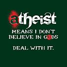 ATHEIST means (white) by tastypaper
