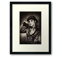 Steampunk in Sepia Framed Print