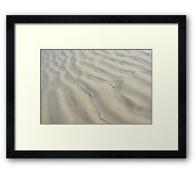 wave undulating sand Framed Print