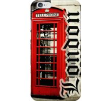 Red London Telephone Box Case iPhone Case/Skin