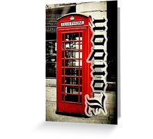 Red London Telephone Box Case Greeting Card