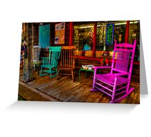 Rocking Chairs Greeting Card