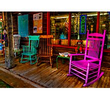 Rocking Chairs Photographic Print
