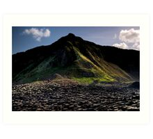 Alone at The Giants Causeway Art Print
