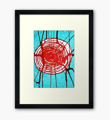 Web of Life original painting Framed Print