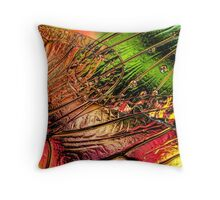 Fall of the Crystal Leaves Throw Pillow