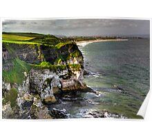 Dunluce cliffs Poster