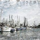 Shrimp Boats Sketch Photo by Jonicool