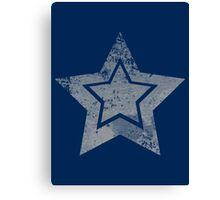 Stain Grey Star Canvas Print