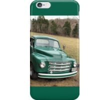 """Studebaker Truck: Put Out to Pasture .... 'til the Next Ride""... prints and products iPhone Case/Skin"