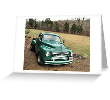 """""""Studebaker Truck: Put Out to Pasture .... 'til the Next Ride""""... prints and products Greeting Card"""