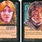 Altered Cards: Harry Potter by kenmeyerjr