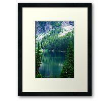 Pristine Alpine Lake Framed Print
