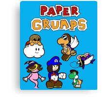 Paper Grumps Blue Canvas Print