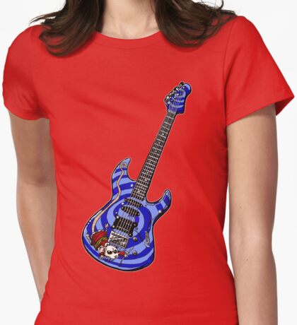 Dormouse Guitar Womens Fitted T-Shirt