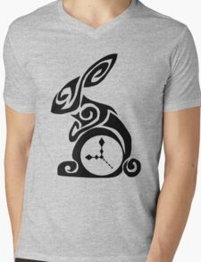 Time is ticking - Black Rabbit Mens V-Neck T-Shirt