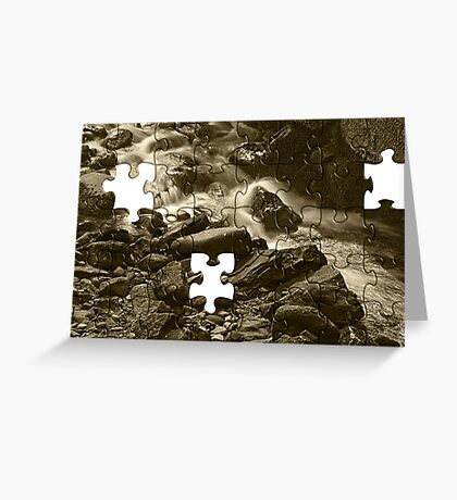 Water Puzzle Greeting Card