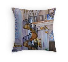 Loretto Chapel Staircase - Santa Fe, NM Throw Pillow