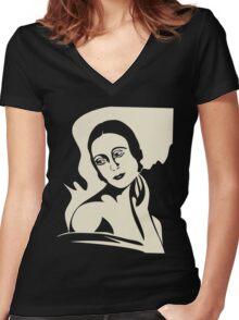 prima ballerina Women's Fitted V-Neck T-Shirt