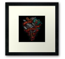 I Aim To Misbehave! Framed Print