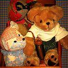 Teddy Riding The wagon by Linda Miller Gesualdo