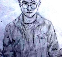 Pencil Drawing of Harry Potter by brokennightmare