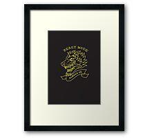 Beast Mode - Always On Framed Print