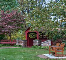 Indian Park Covered Footbridge by Gene Walls
