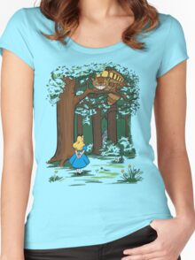 My Neighbor in Wonderland (Kelly Green) Women's Fitted Scoop T-Shirt