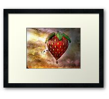 Fly Away With Me In My Strawberry Fantasy Framed Print