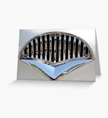 Classic Car Grille Greeting Card