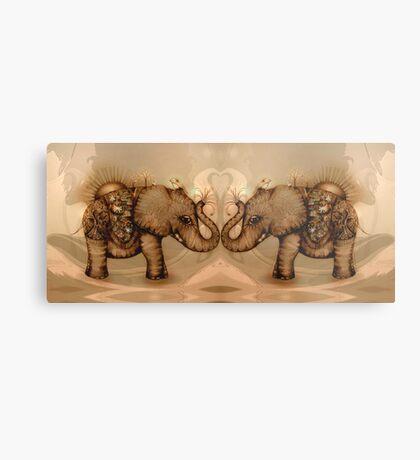 Elephant Love Metal Print