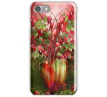 Bleeding Hearts In Heart Vase iPhone Case/Skin