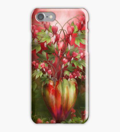 Bleeding Hearts In Heart Vase iPhone Case/Skin