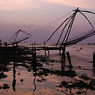 Fishing nets, Cochin by Syd Winer