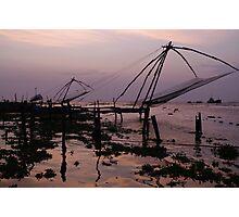 Fishing nets, Cochin Photographic Print