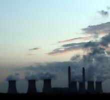 Industrial Landscape in Silhouette by Jason M Rogers