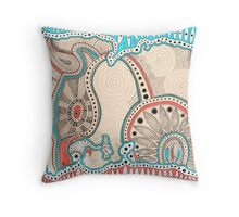 Coffee bird is hunting Throw Pillow