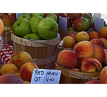 Peaches and Apples Photographic Print