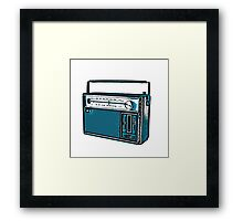 Analogue radio  Framed Print