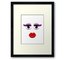 Purple Eyes With Lips Framed Print