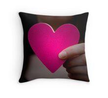 Paper Heart Throw Pillow