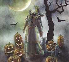A witchy walk on a misty Halloween. by katemccredie