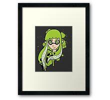 Green Inkling Girl Framed Print