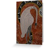 murrugu (Crane) by Australian Aboriginal artist R Smith Greeting Card