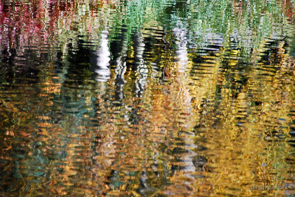 autumn abstract by dinghysailor1