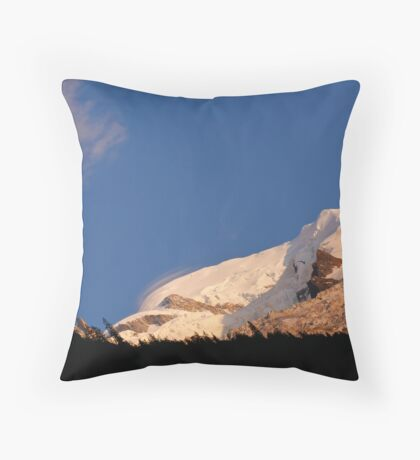 Moon over Mont Blanc Throw Pillow